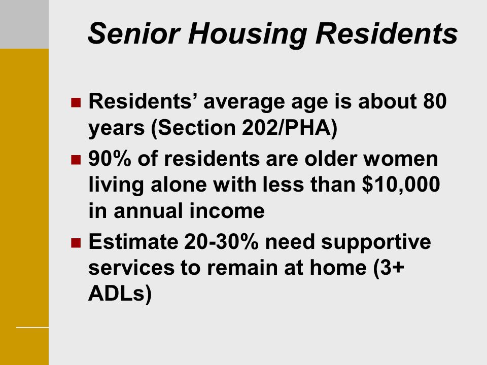 Senior Housing Residents