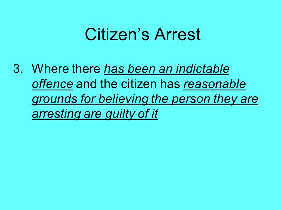 Citizen's Arrest
