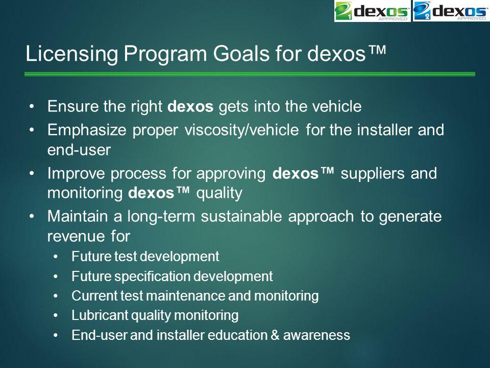 Licensing Program Goals for dexos™
