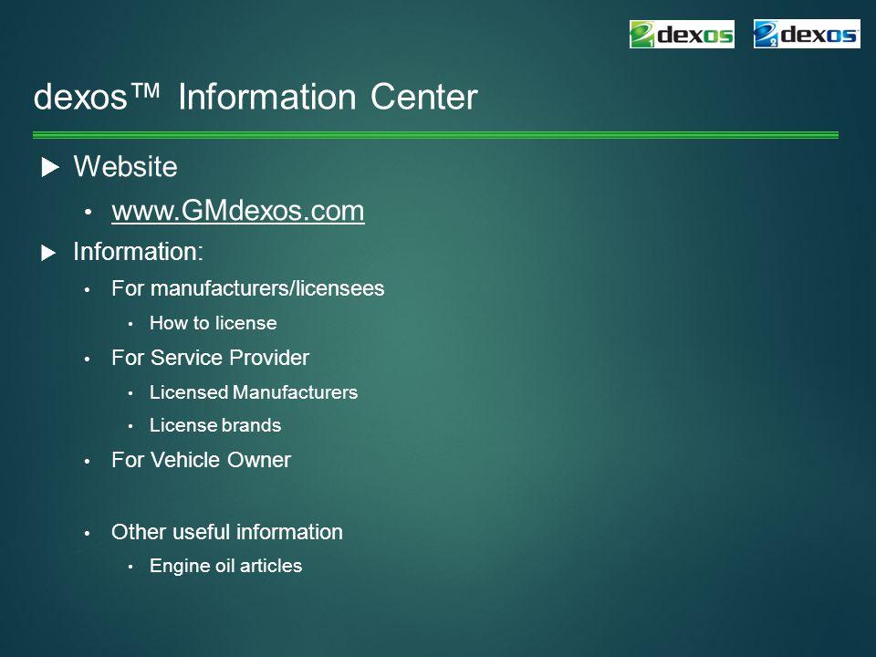 dexos™ Information Center