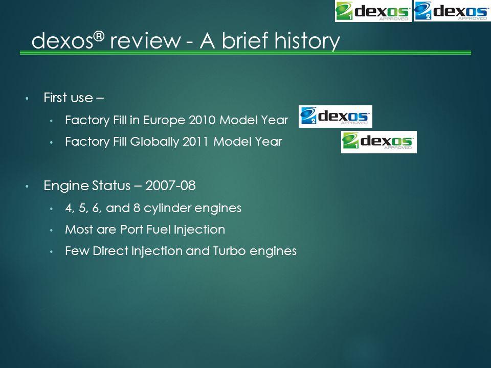 dexos® review - A brief history