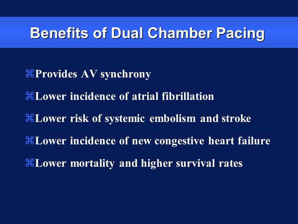 Benefits of Dual Chamber Pacing