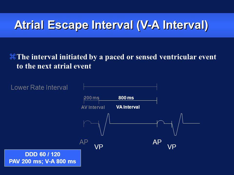 Atrial Escape Interval (V-A Interval)