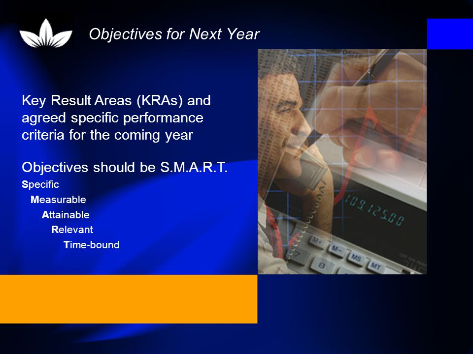 Objectives for Next Year