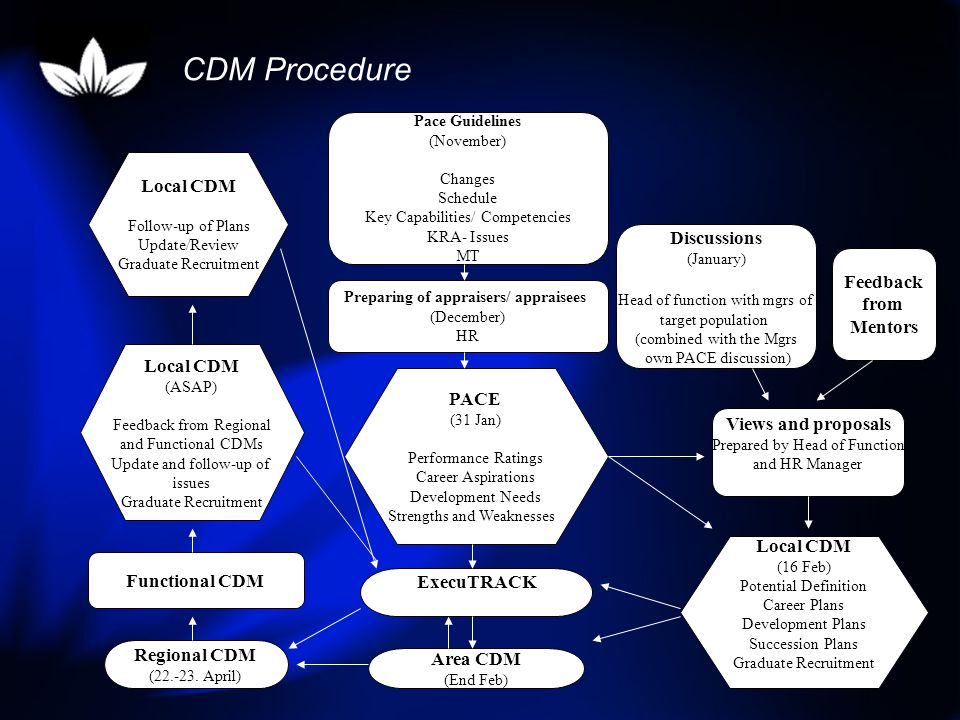 CDM Procedure Local CDM Discussions Feedback from Mentors Local CDM