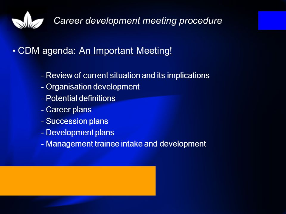 Career development meeting procedure
