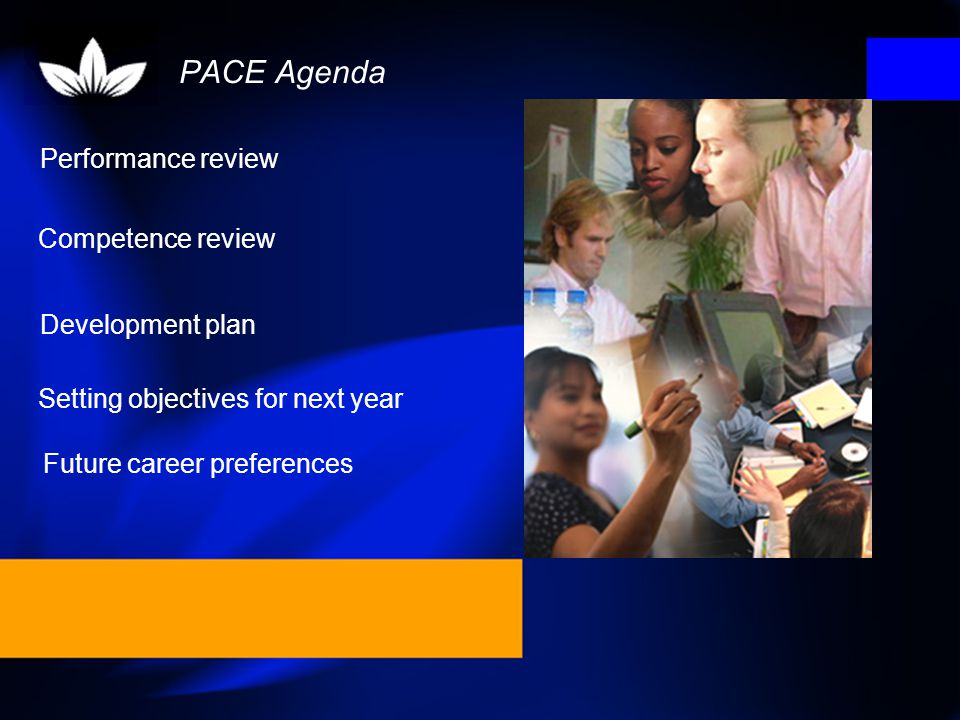 PACE Agenda Performance review Competence review Development plan