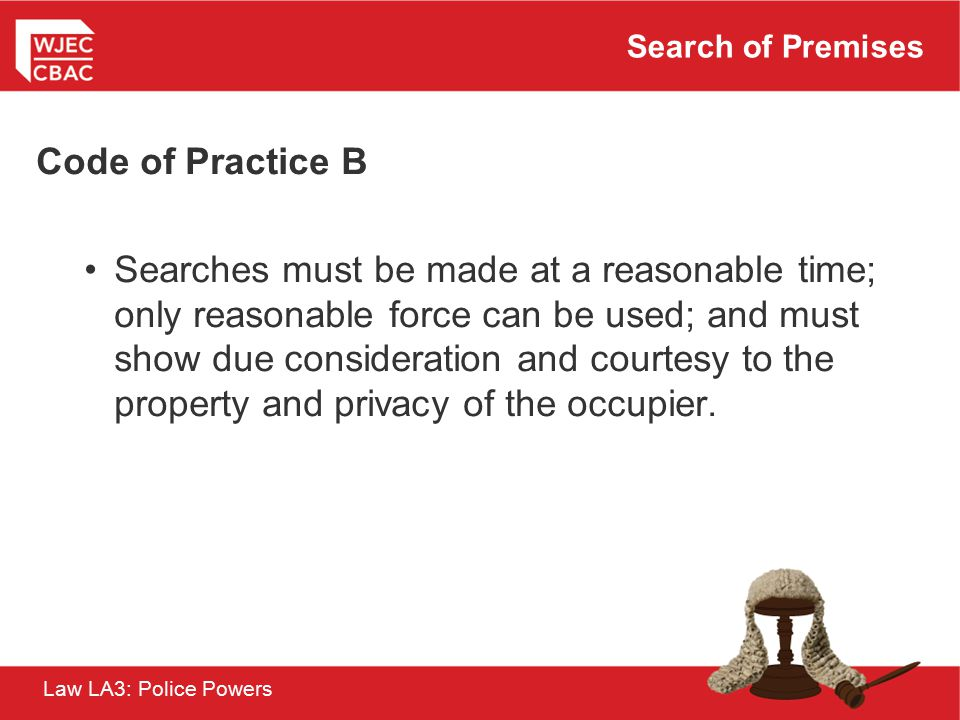 Search of Premises Code of Practice B.