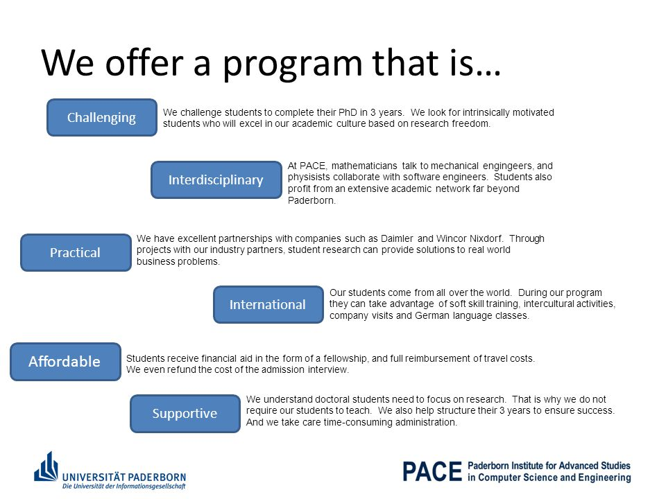 We offer a program that is…
