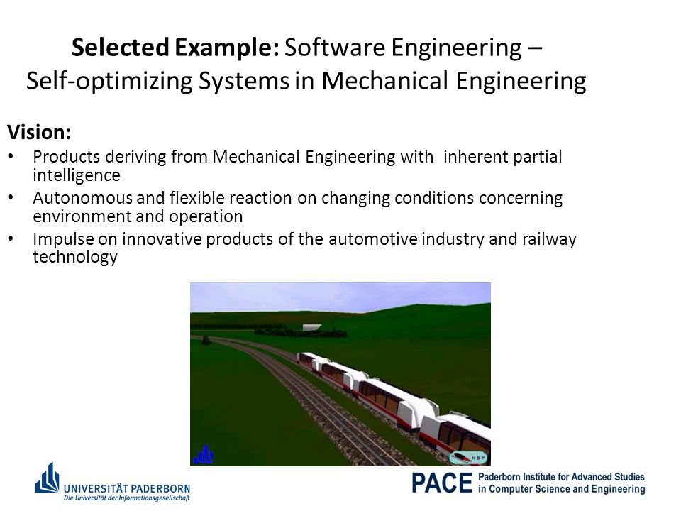 Selected Example: Software Engineering – Self-optimizing Systems in Mechanical Engineering