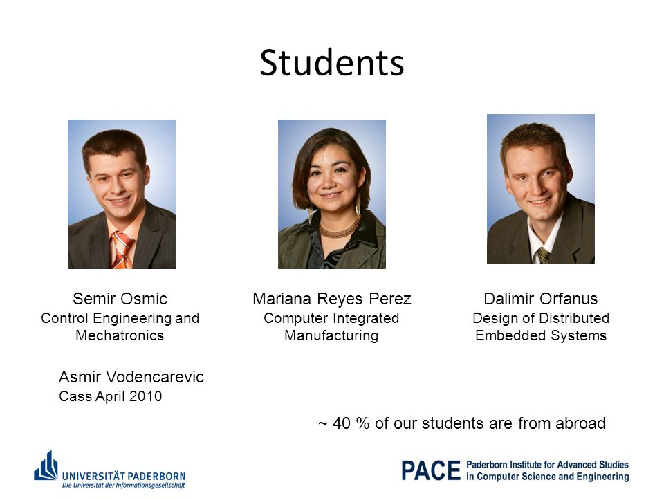Students Semir Osmic Mariana Reyes Perez Dalimir Orfanus