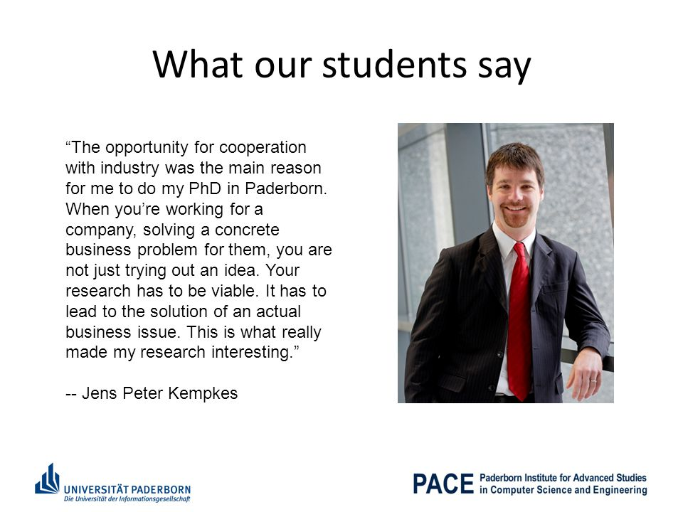 What our students say