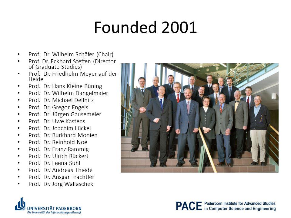 Founded 2001 Prof. Dr. Wilhelm Schäfer (Chair)