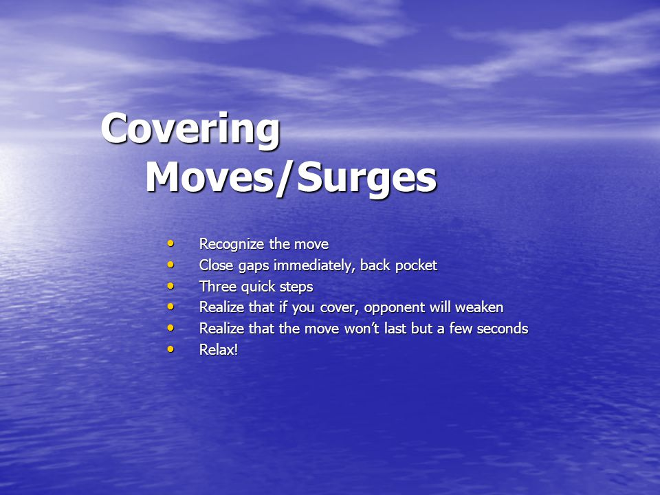 Covering Moves/Surges