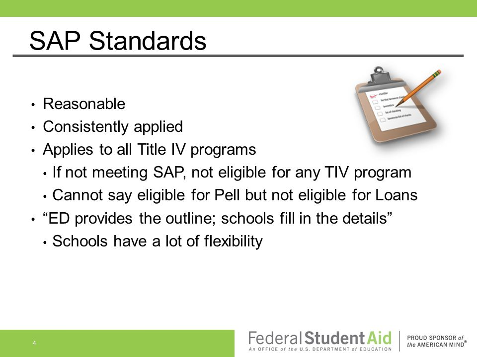 SAP Standards Reasonable Consistently applied