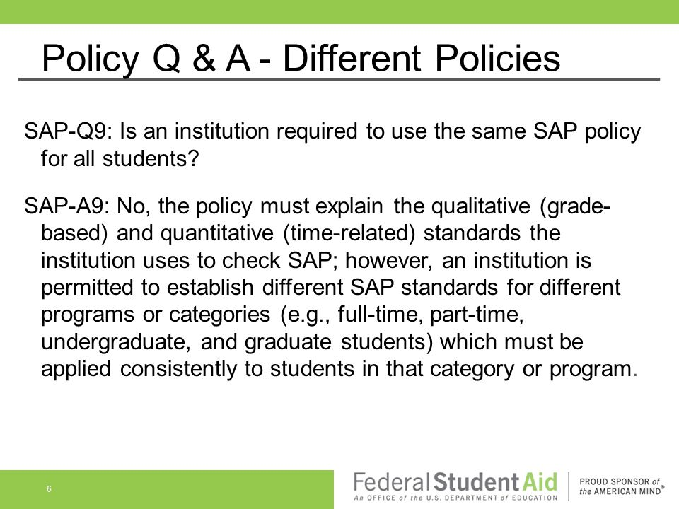 Policy Q & A - Different Policies