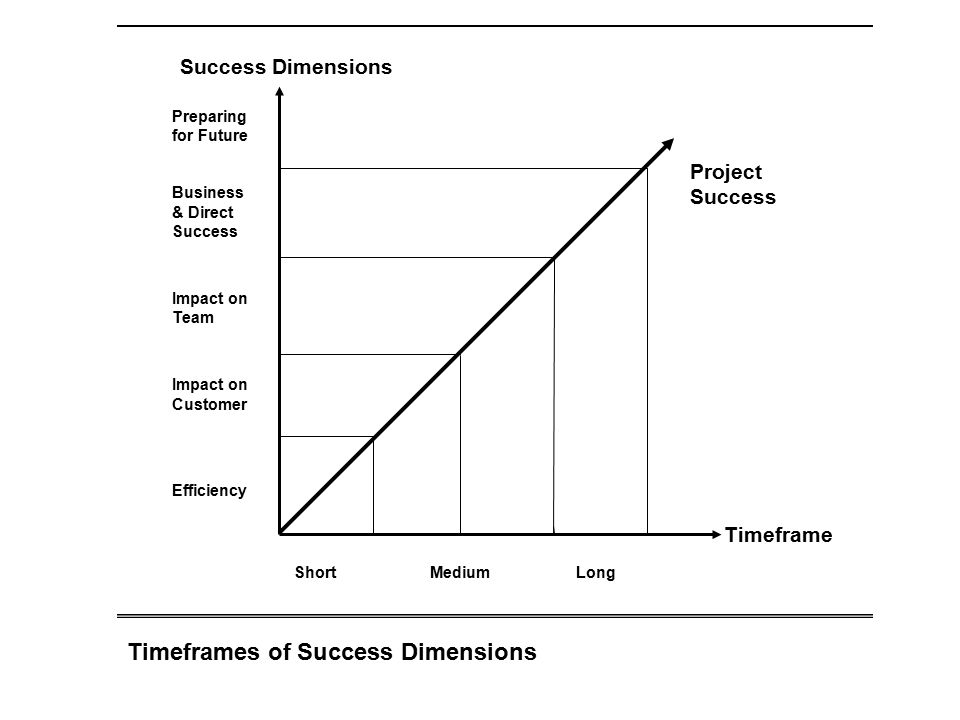 Timeframes of Success Dimensions
