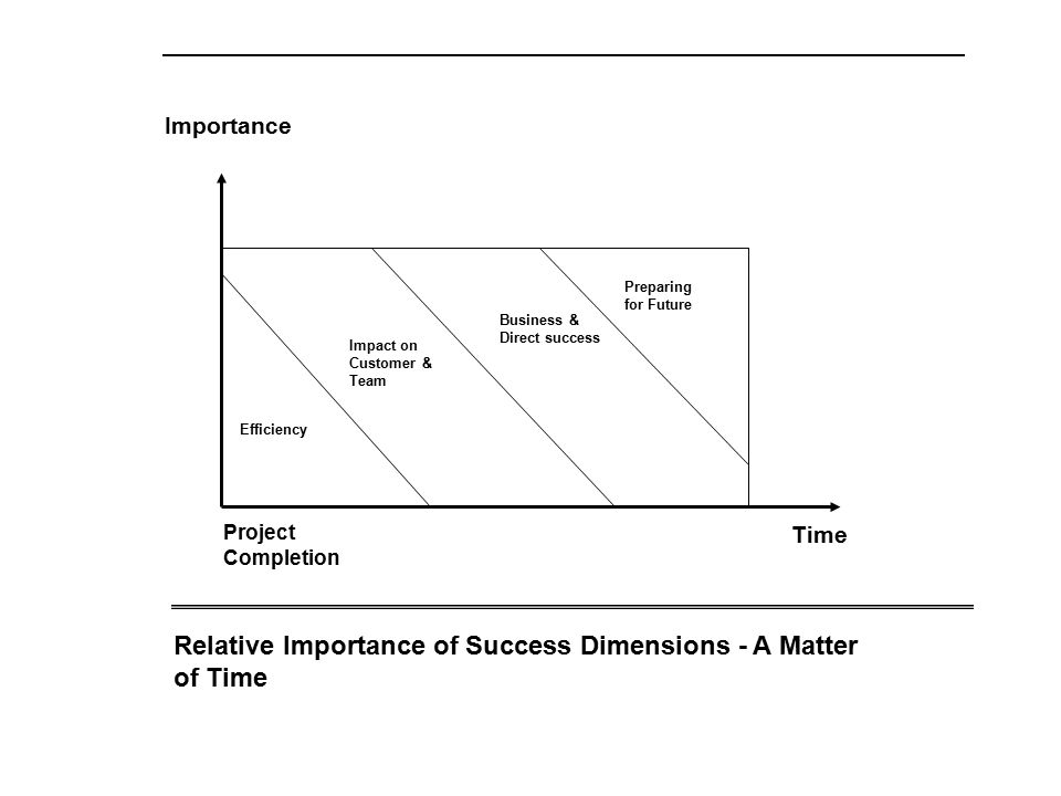 Relative Importance of Success Dimensions - A Matter of Time