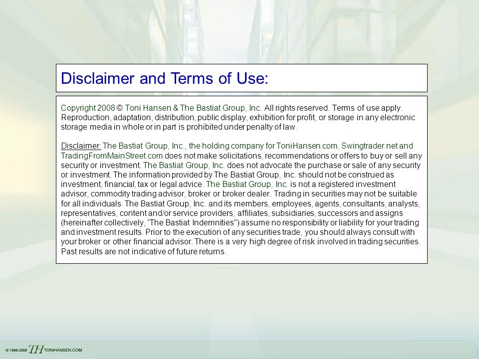 Disclaimer and Terms of Use: