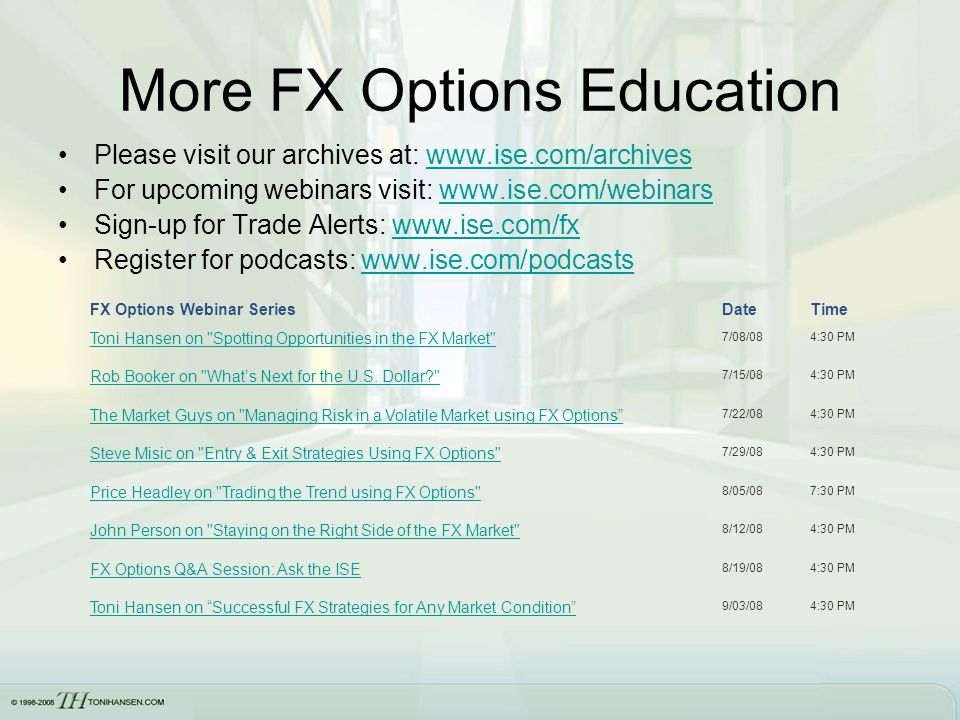 Fx options models
