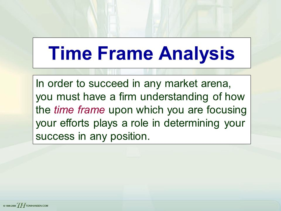 Time Frame Analysis