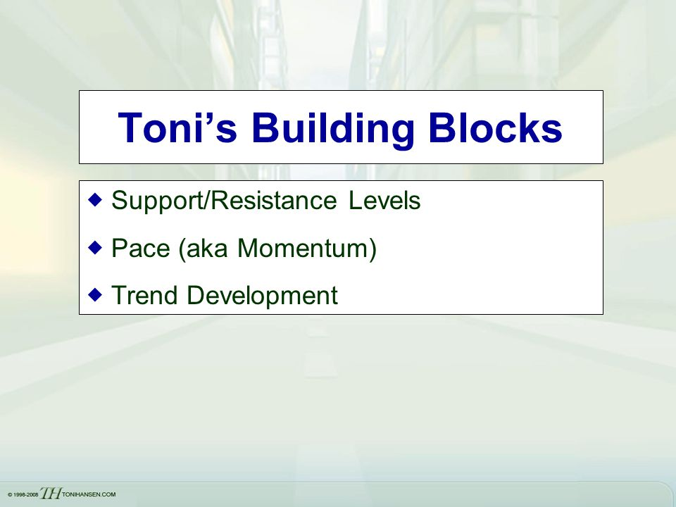 Toni's Building Blocks