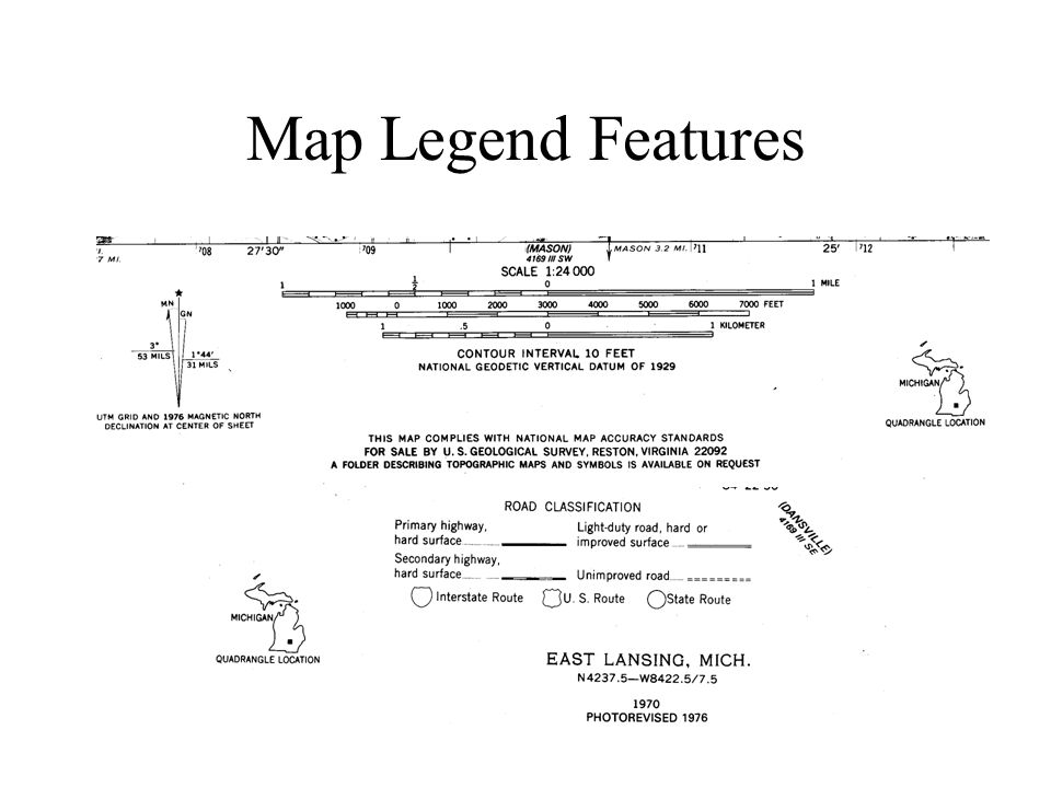 Map Legend Features