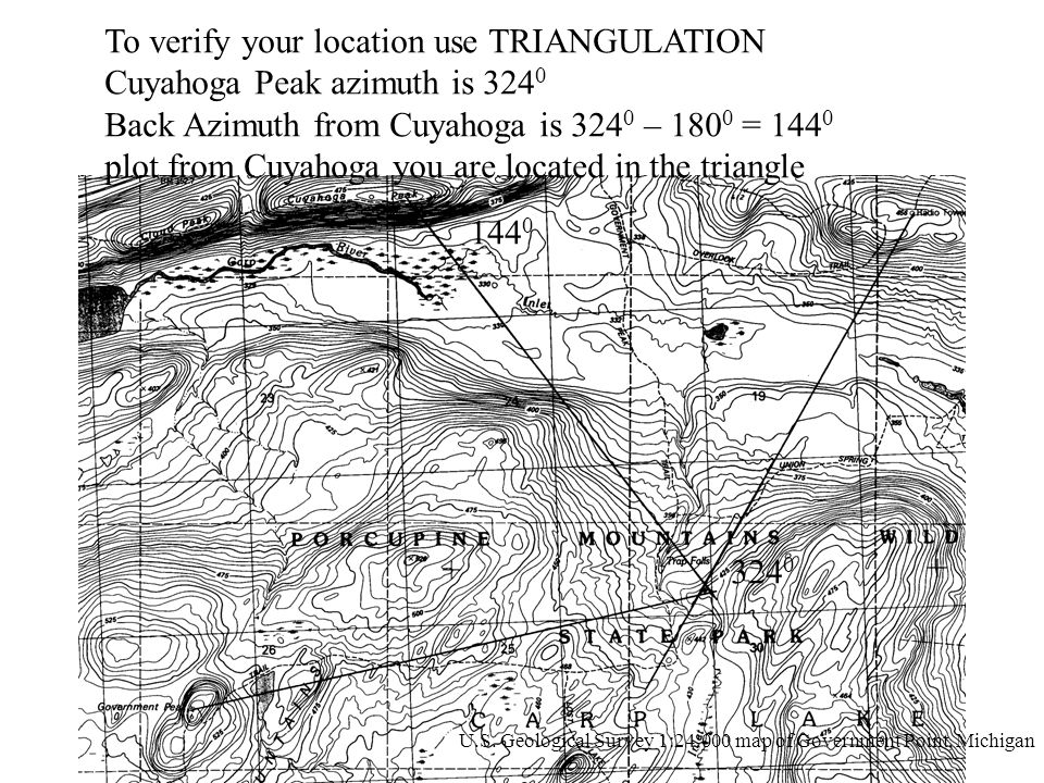 To verify your location use TRIANGULATION