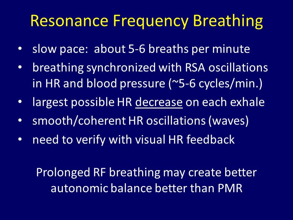 Resonance Frequency Breathing