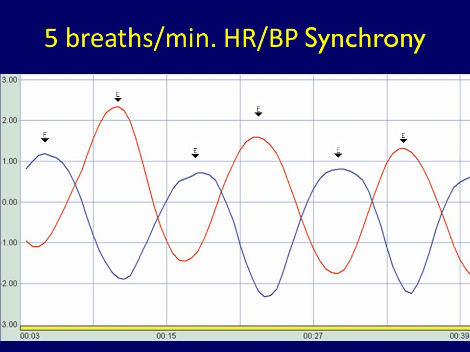 5 breaths/min. HR/BP Synchrony