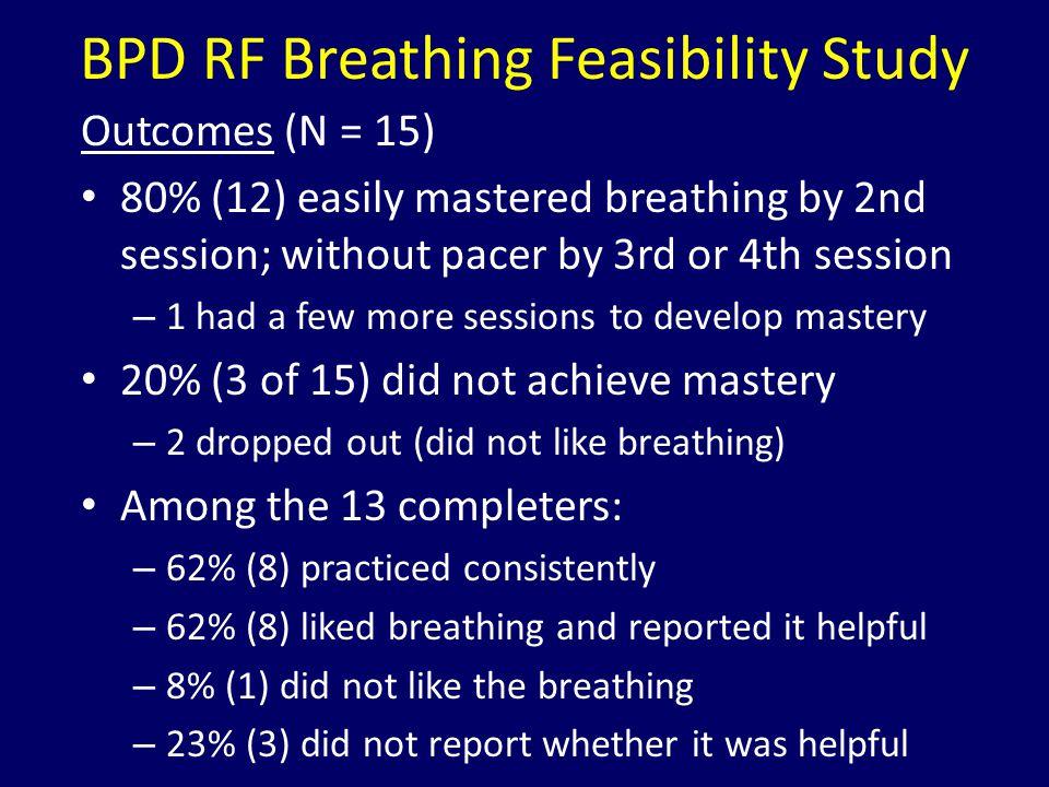 BPD RF Breathing Feasibility Study
