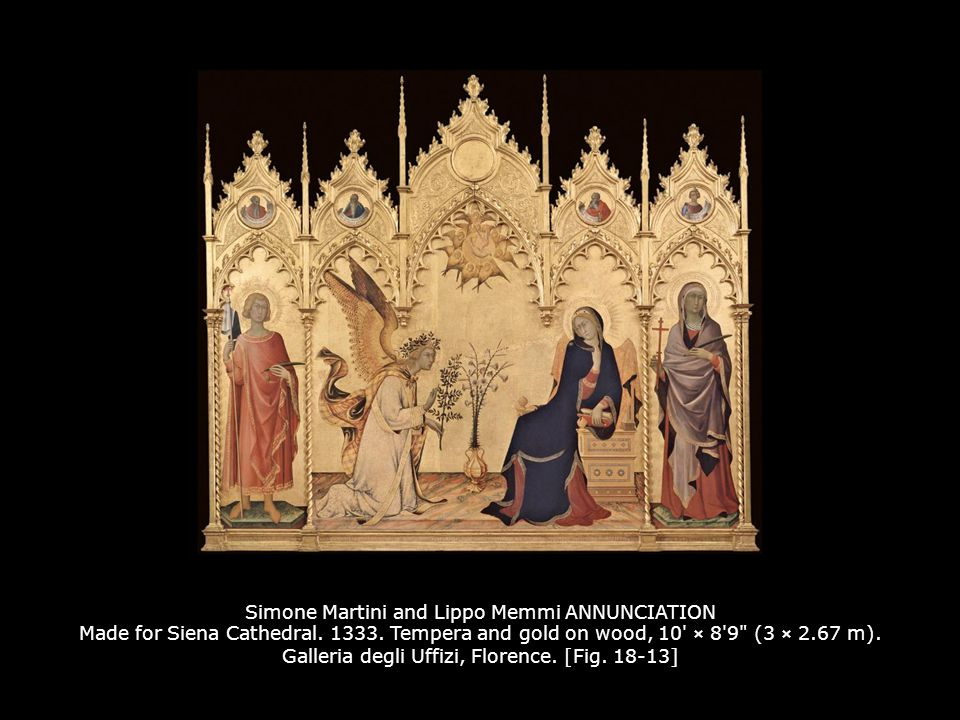 Simone Martini and Lippo Memmi ANNUNCIATION Made for Siena Cathedral