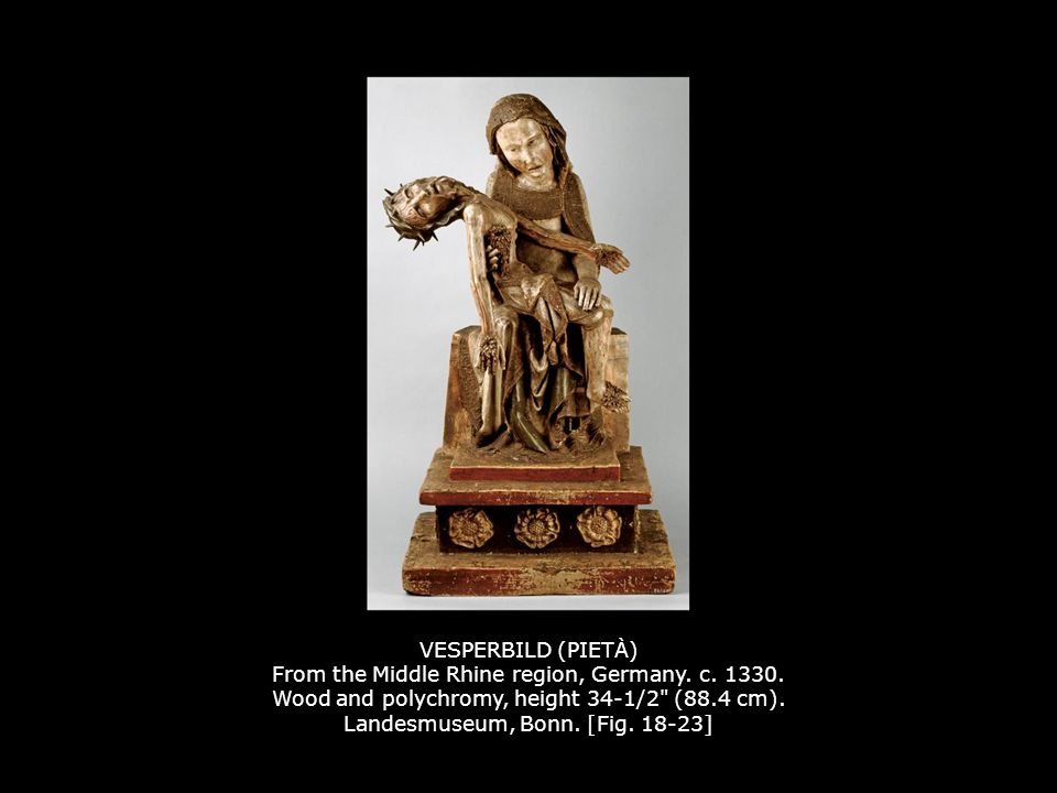 VESPERBILD (PIETÀ) From the Middle Rhine region, Germany. c. 1330