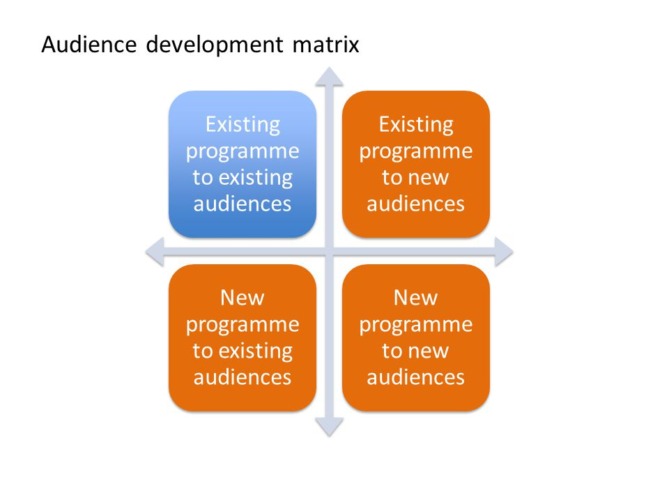 Audience development matrix