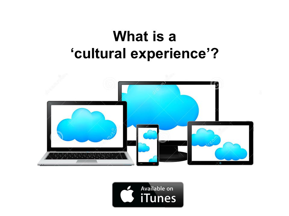 What is a 'cultural experience'