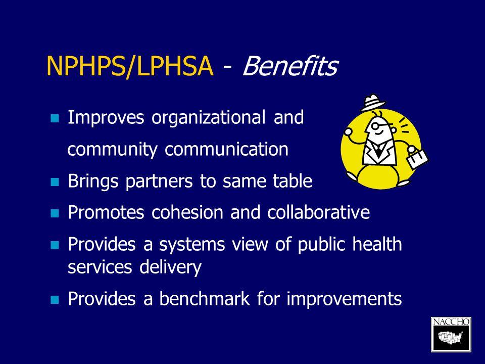 NPHPS/LPHSA - Benefits