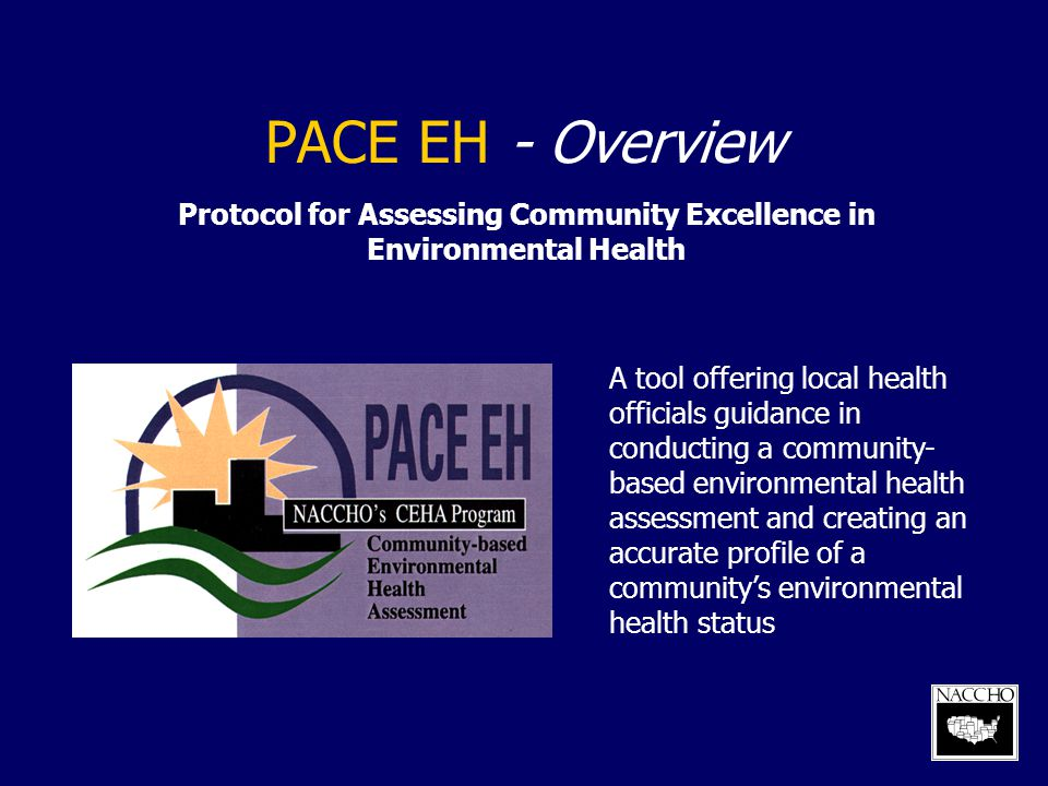 Protocol for Assessing Community Excellence in Environmental Health