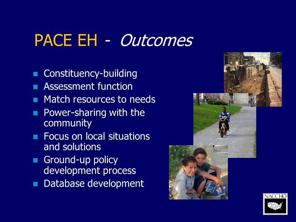 PACE EH - Outcomes Constituency-building Assessment function
