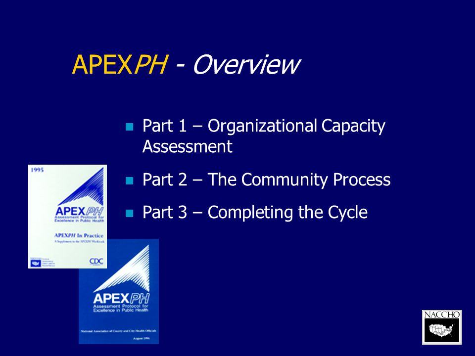 APEXPH - Overview Part 1 – Organizational Capacity Assessment