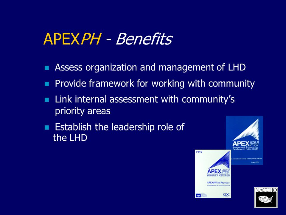 APEXPH - Benefits Assess organization and management of LHD