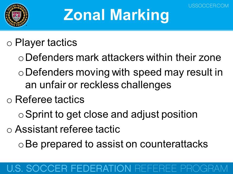 Zonal Marking Player tactics