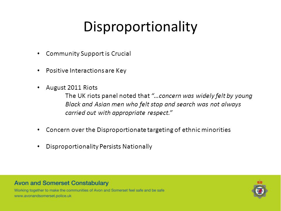 Disproportionality Community Support is Crucial