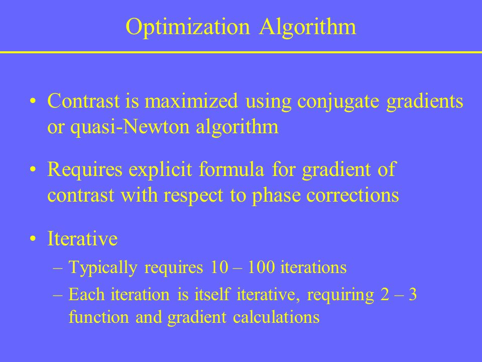 Optimization Algorithm