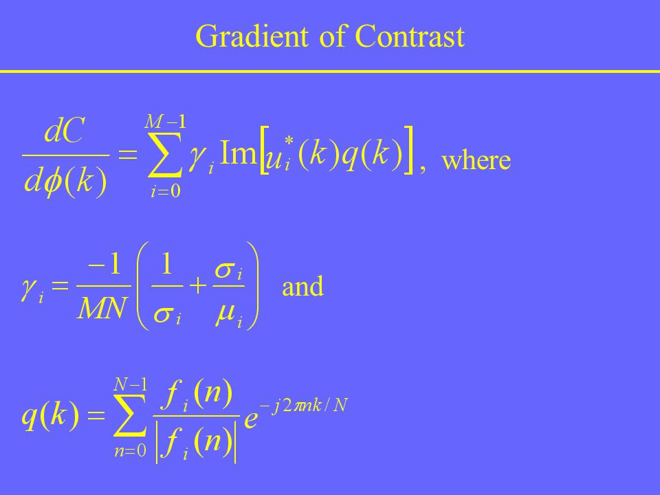 Gradient of Contrast , where and