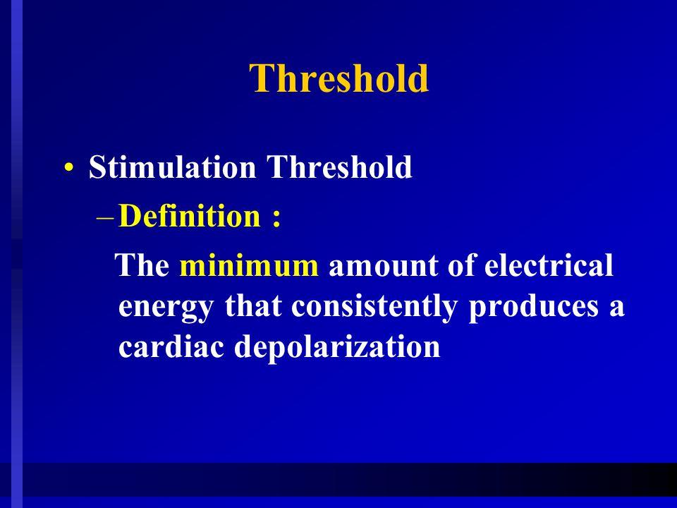 Threshold Stimulation Threshold Definition :