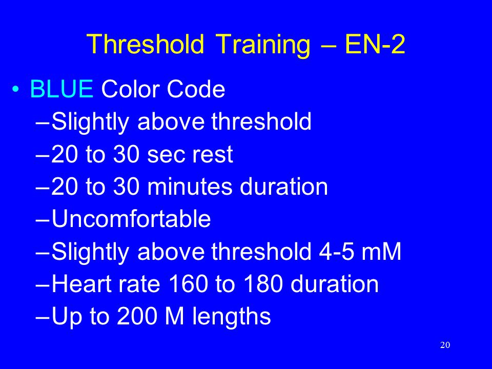 Threshold Training – EN-2