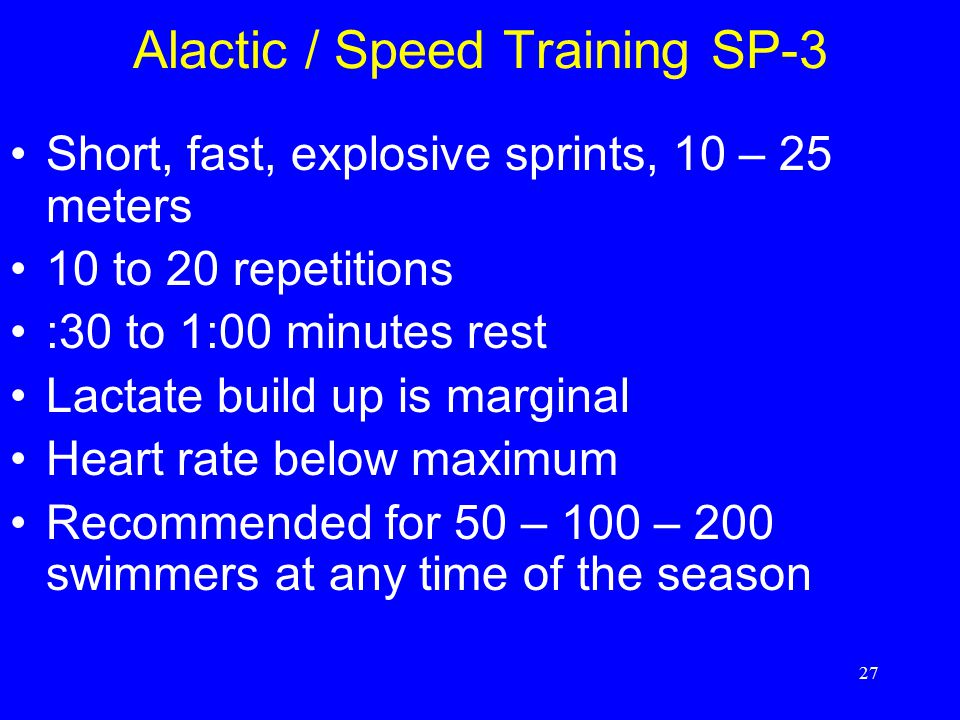 Alactic / Speed Training SP-3