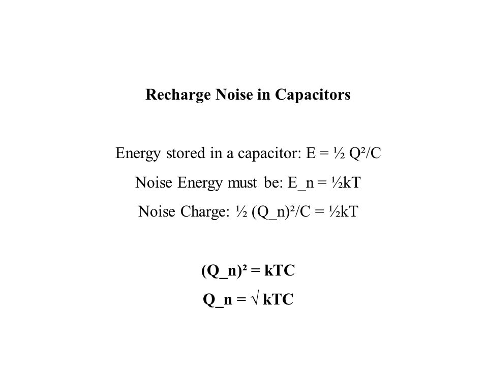Recharge Noise in Capacitors