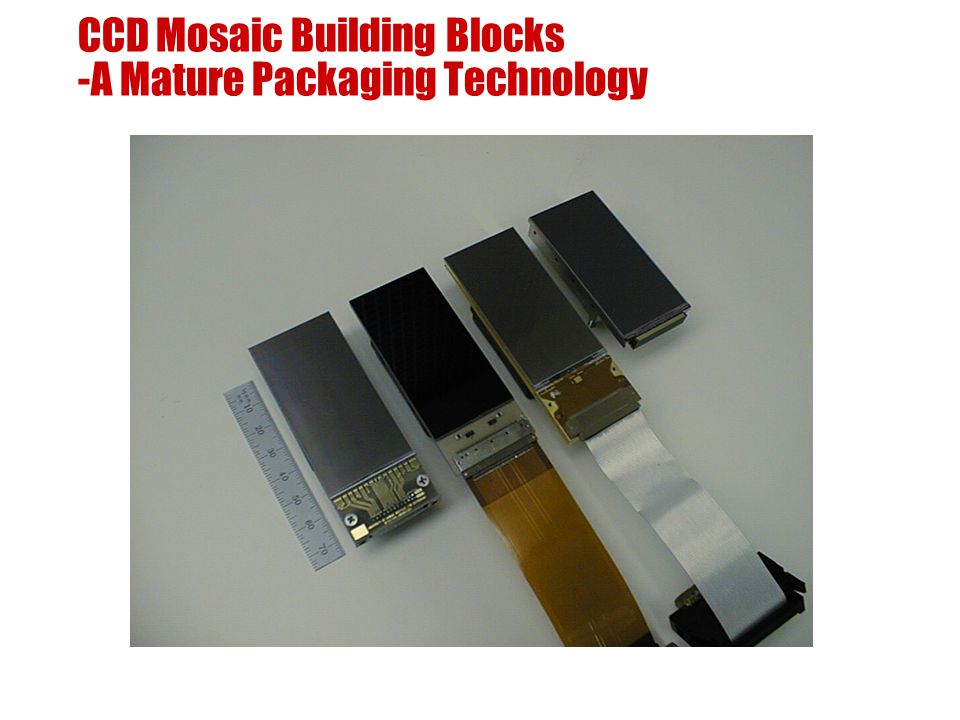 CCD Mosaic Building Blocks -A Mature Packaging Technology