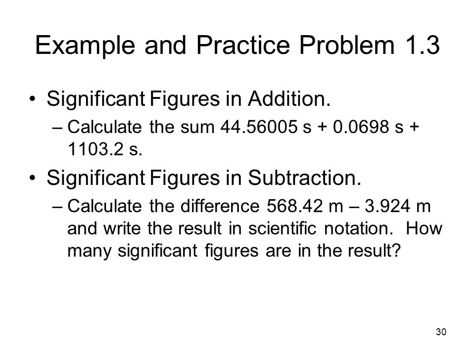 Example and Practice Problem 1.3